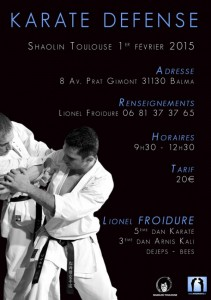 stage karate avec Lionel Froidure