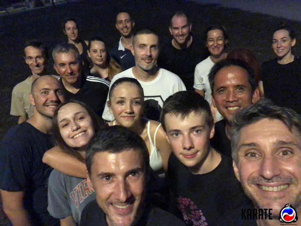 groupe karate adultes blagnac toulouse aout 2020 avec Lionel froidure